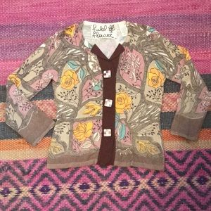Field Flower for Anthropologie floral cardigan S